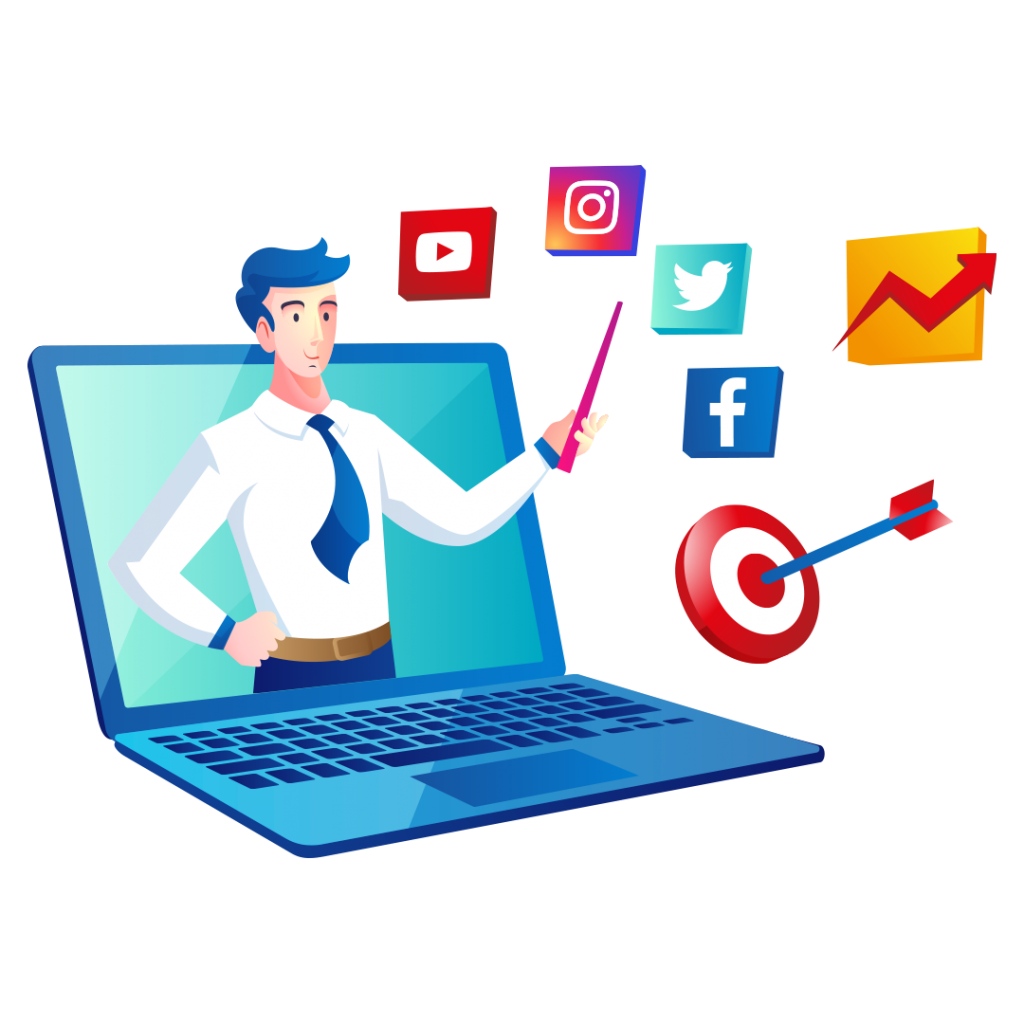 We provide Social Media Management service in VR2 Production House